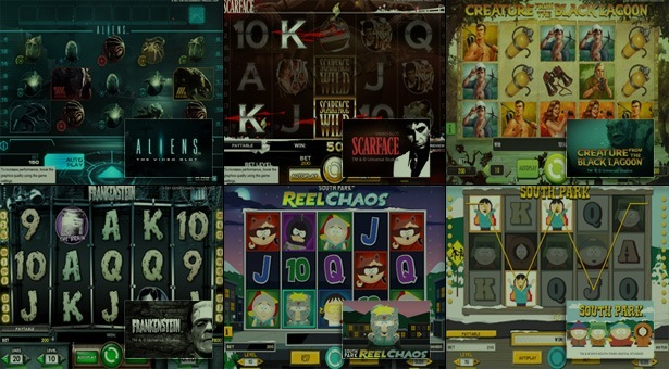 Branded Slot Games by NetEnt